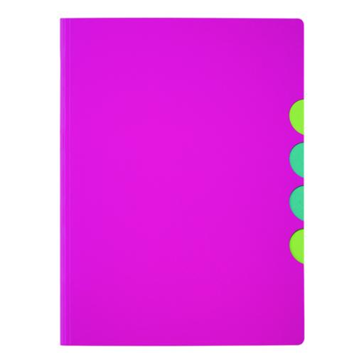 Durable Pagna 5 part A4 Folder Dark Pink (Pack of 10) 4780334