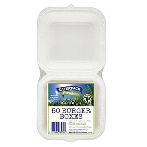 Caterpack Burger Box Rigid Ref 03861 [Pack 50]