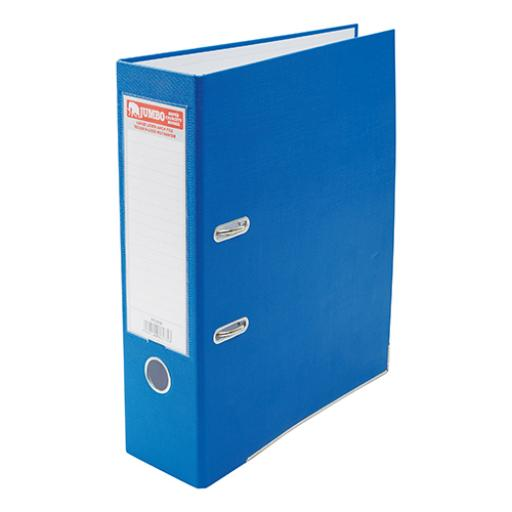 Jumbo Lever Arch File A4 Secure Locking Mechanism 85mm Capacity W93xD282xH320mm Blue