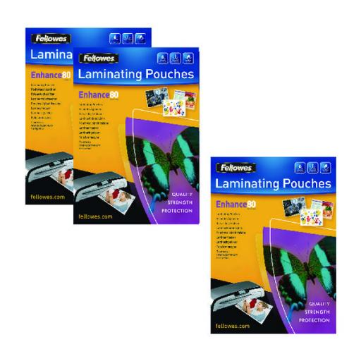 Fellowes A3 Laminating Pouch 160 Mic Get 3 Packs for the Price of 2 (Pack of 200+100) BB810552