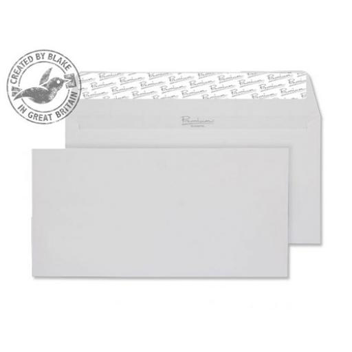 Blake Premium Envelope Wallet P&S 120gsm Diamond White DL [Pack 500] Ref 91882 [3 For 2] Apr-Jun 2018
