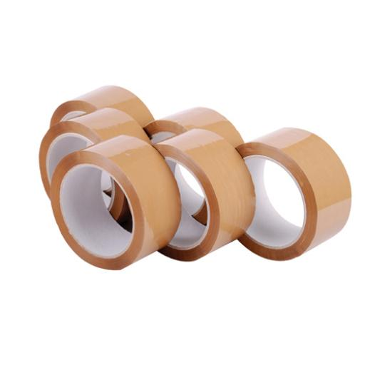 Polypropylene Packaging Tape 48mmx66m Brown (Pack of 6) 7671
