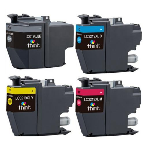 Think Alternative High Capacity Multipack - Brother compatible LC3219XL Black, Cyan, Magenta & Yellow