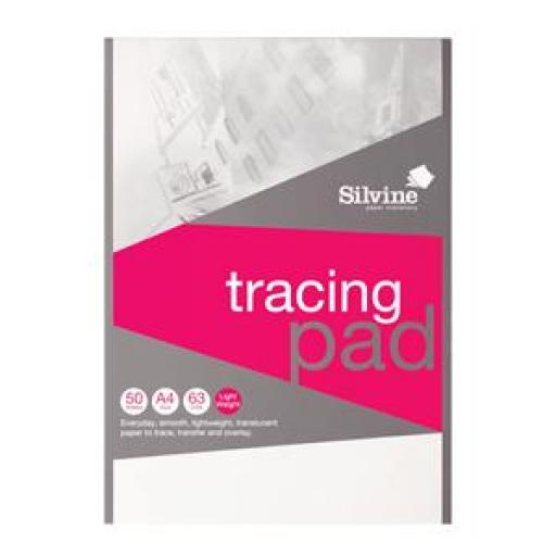 Silvine (A4) Popular Tracing Pad Acid Free Paper 50gsm 50 Sheets (Prize Draw) April-December 2016