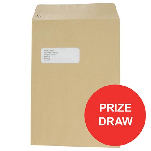 Basildon Bond Envelopes Pocket Peel and Seal Window 90gsm C4 324x229mm Manilla Ref A80192 [Pack 250]