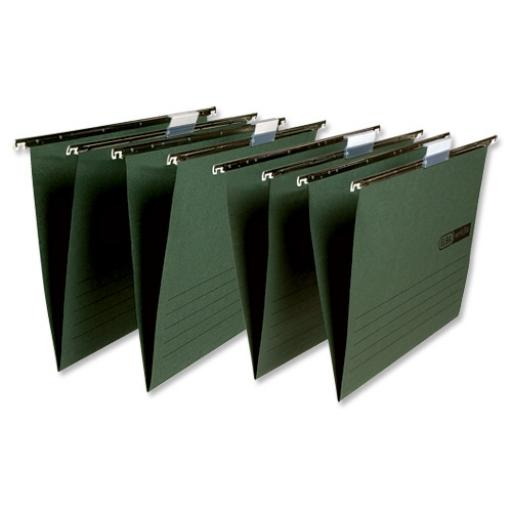 Elba Verticfile Ultimate Suspension File 15mm V-base Manilla 240gsm A4 Green Ref 100331251 [Pack 50]