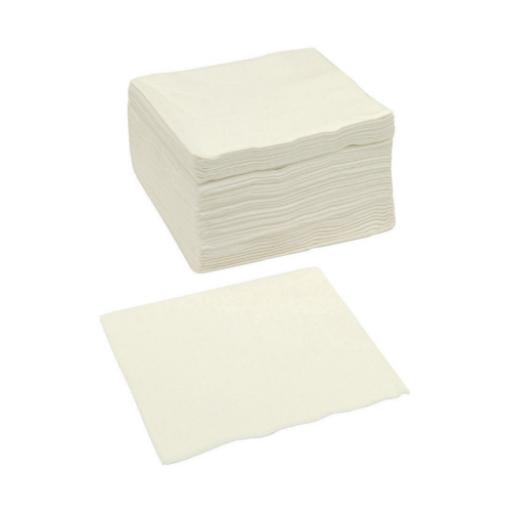 Paper Napkins Square 2 Ply 400x400mm White [Pack 250] *2017 Mailer*