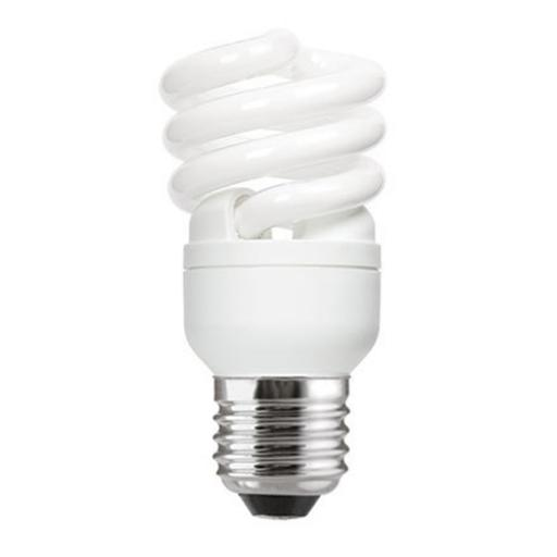 GE 12W T2 Heliax E27 Spiral Cpt Flres Bulb Screw Fit 715lm EEC-A ExtWrmWht Ref85640 *Upto 10Day Leadtime*