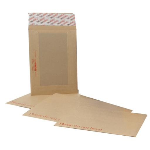New Guardian Envelopes Heavyweight Board Backed Peel and Seal C4 130gsm Manilla [Pack 125]