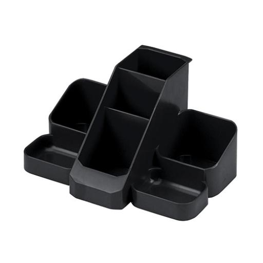 Avery Basics Desk Tidy 7 Compartments Black Ref 1137BLK