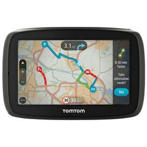 TomTom GO 50 (5.0 inch) Satellite Navigation System with Lifetime Maps and Traffic