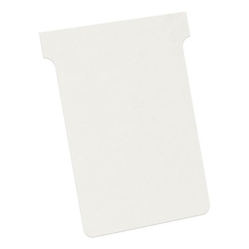 Nobo T-Cards 160gsm Tab Top 15mm W93x Bottom W80x Full H120mm Size 3 White Ref 2003002 [Pack 100]