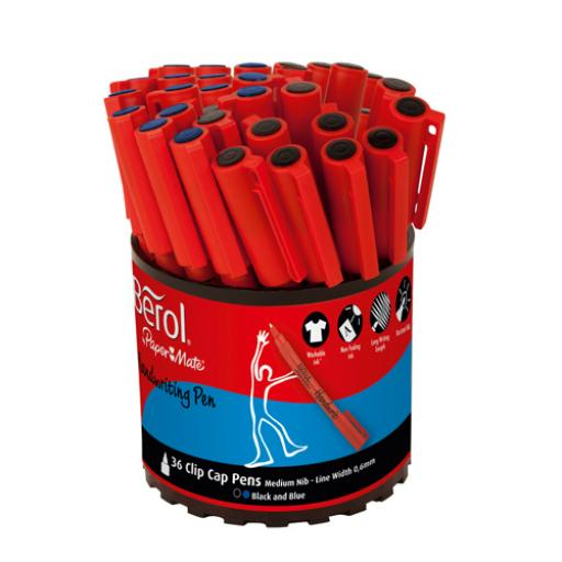 Berol Handwriting Pen Assorted Tub (Pack of 36) S0879230