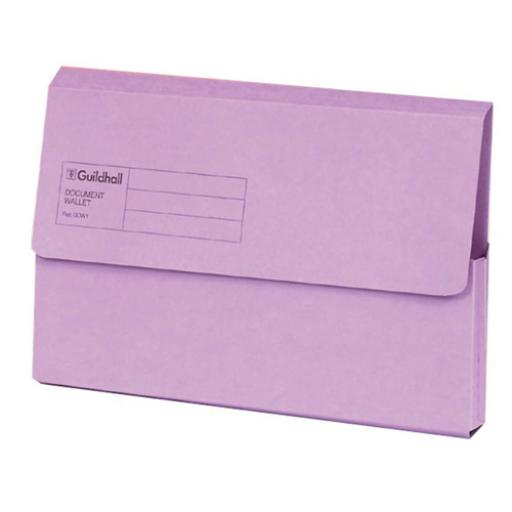 Guildhall Foolscap Violet Document Wallet Pack of 50 GDW1-VLT