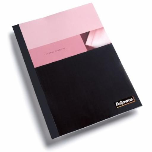 Fellowes Binding Covers Gloss Coverboard Flush Cut 250gsm A4 Black Ref 5378501 [Pack 100]