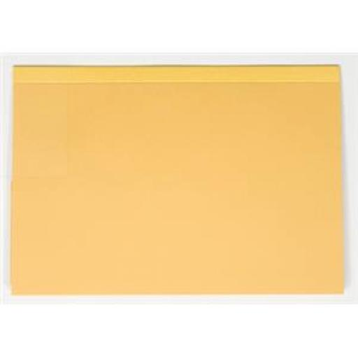 Guildhall Foolscap 315gsm Reinforced Manilla Double Pocket (35mm) Legal Wallet (Yellow) Ref 218-YLWZ-x (Pack of 25 Wallet Folders)