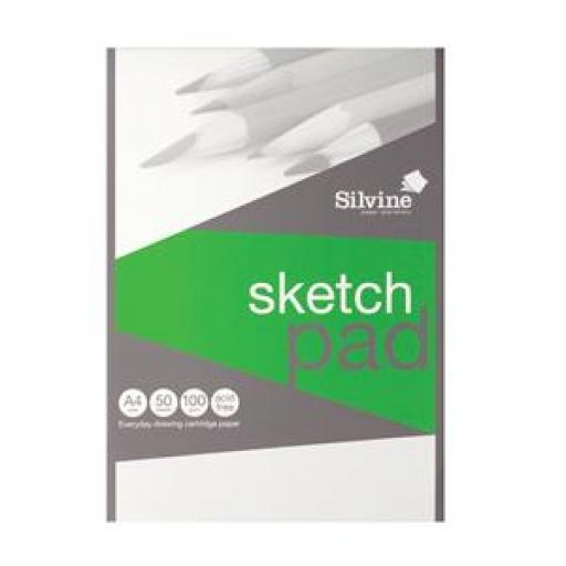 Silvine (A4) Popular Drawing Pad Acid Free Cartridge Paper 100gsm 50 Sheets (Prize Draw) April-December 2016
