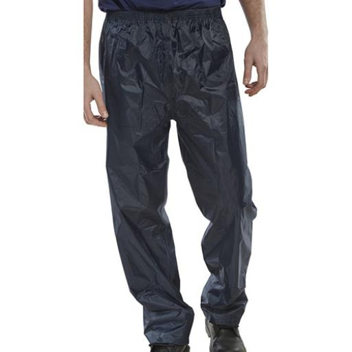 B-Dri Weatherproof Nylon B-Dri Trousers Navy Blue S