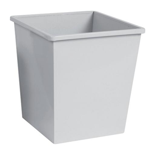 5 Star Facilities Waste Bin Square Metal Scratch Resistant 27 Litre Capacity 325x325x350mm Grey