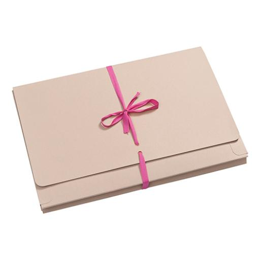 Guildhall Legal Wallets Merstham Manilla Pink Ribbon 315gsm 25mm Gusset Foolscap Ref 225Z [Pack 25]