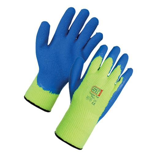 Supertouch Topaz Ice Plus Gloves Acrylic Textured Latex Palm Large *Approx 3 Day Leadtime*