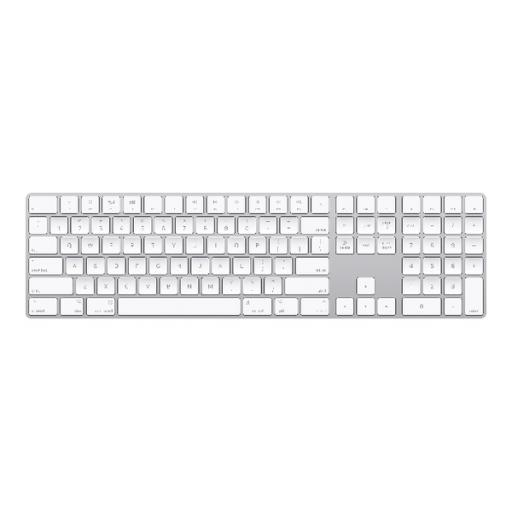 Apple Magic Keyboard With Numeric Keypad - British English White/Silver MQ052B/A