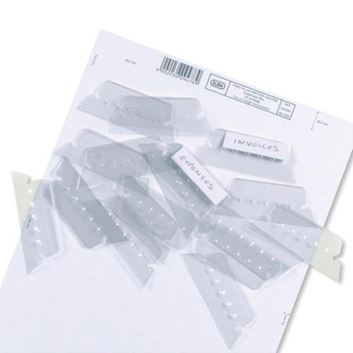 Elba Verticflex Card Inserts for Suspension File Tabs White Ref 100330218 [Labels 800]