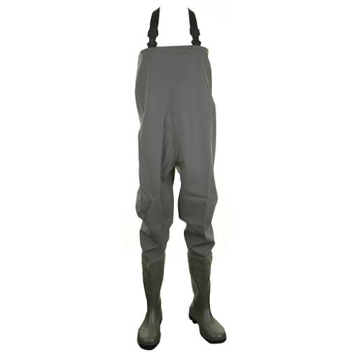 Dunlop Full Safety Chest Wader Green 09