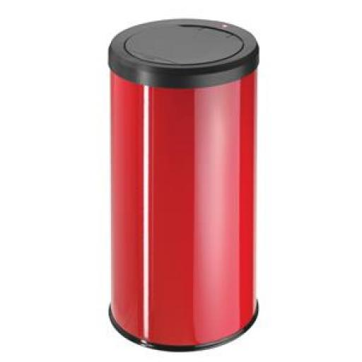 Hailo Big Bin Touch 45 Steel Coated Waste Bin 45 Litres (Red)