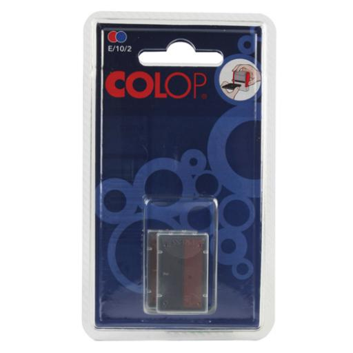 Colop E/10/2 Replacement Pad Blue /Red (Pack of 2) E/10/2
