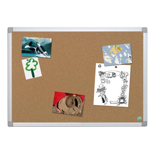 Bi-Office Earth-It Aluminium Frame Cork Board 900x600mm CA031790