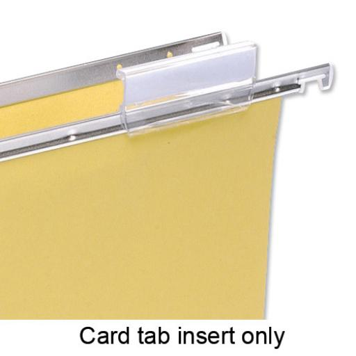 5 Star Office Card Inserts for Suspension File Tabs White [Pack 56]