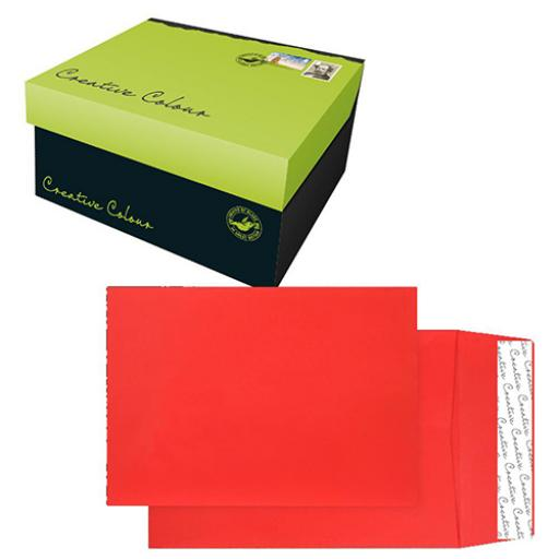 Blake Creative Colour C4 Gusset 25mm P&S 140gsm Pillar Box Red Ref 9060 [Pack125]