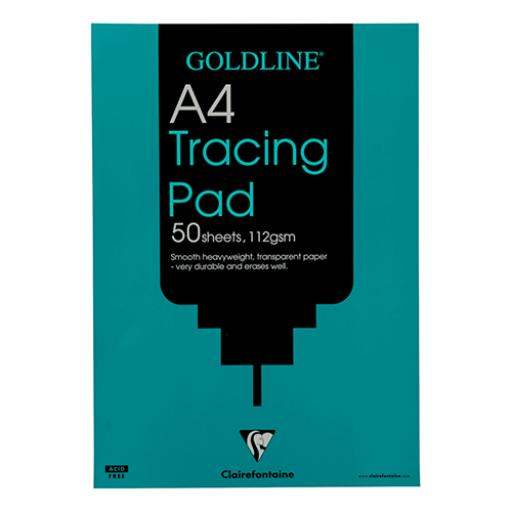 Goldline Heavyweight Tracing Pad 112gsm Acid-free Paper 50 Sheets A4 Ref GPT3A4Z [Pack 5]