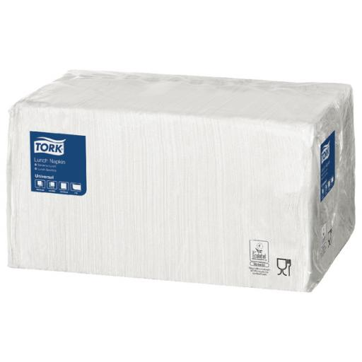 Tork Lunch Napkin 1 Ply 4 Fold White (Pack of 556) 478744