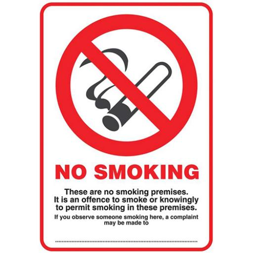 Stewart Superior No Smoking Compliant Sign A4 Ref Polypropylene SCP002PP
