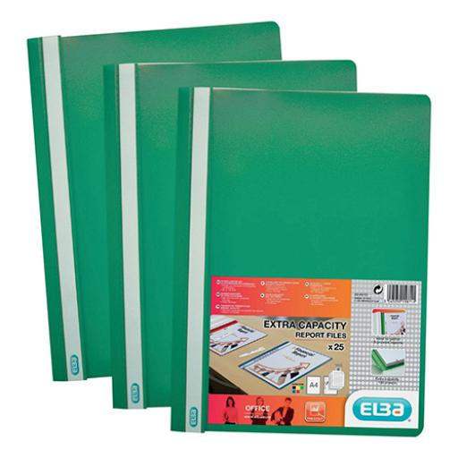 Elba (A4) Clearview Folder (Green) Pack of 50