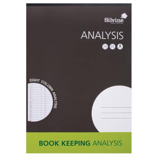 Silvine A4 8 Column Analysis Pad A4A8