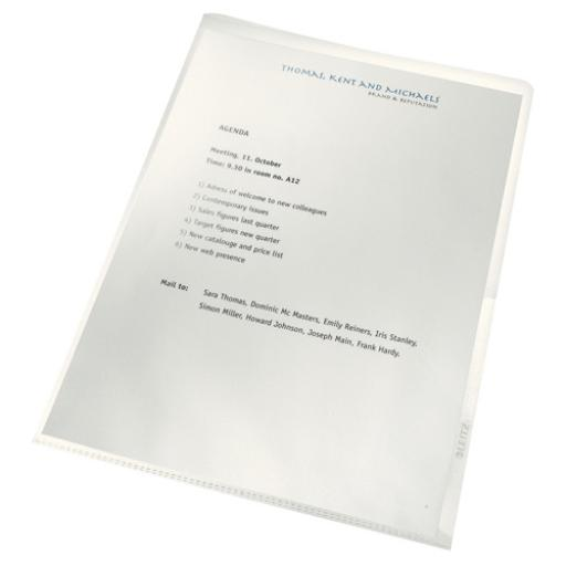 Leitz Re:Cycle Cut Flush Folders Clear (Pack of 100) 4001-00-03