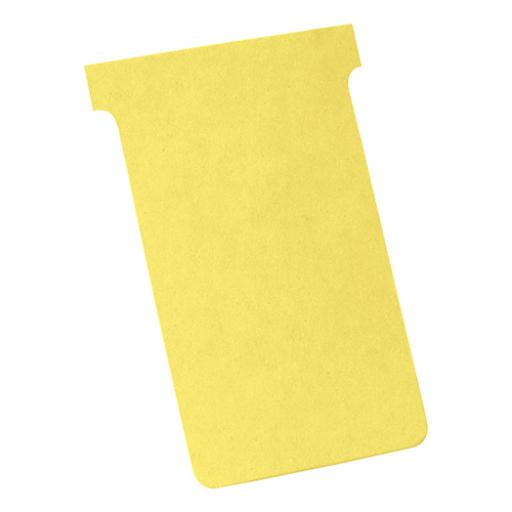 Nobo T-Cards 160gsm Tab Top 15mm W123x Bottom W112x Full H178mm Size 4 Yellow Ref 2004004 [Pack 100]