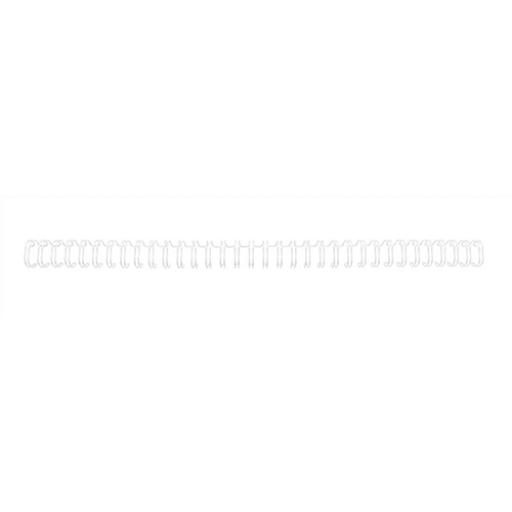 GBC Binding Wire Elements 34 Loop for 55 Sheets 6mm A4 White Ref RG810470 [Pack 100]