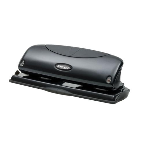 Rexel Precision P425 4 Hole Punch Black 25 Sheet 2100755