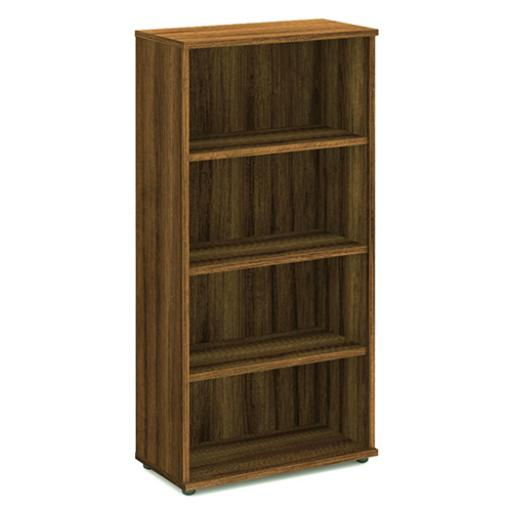Trexus Office High Bookcase 800x400x1600mm 3 Shelves Walnut Ref I000111