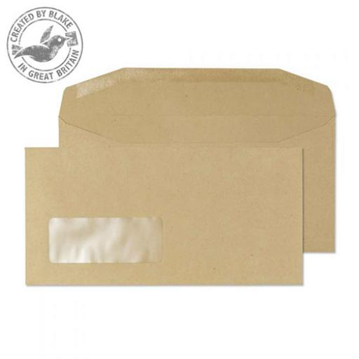 Blake Purely Everyday DL Mailing Wallet Gum Window 80gsm Manilla Ref 13810 [Pack1000]