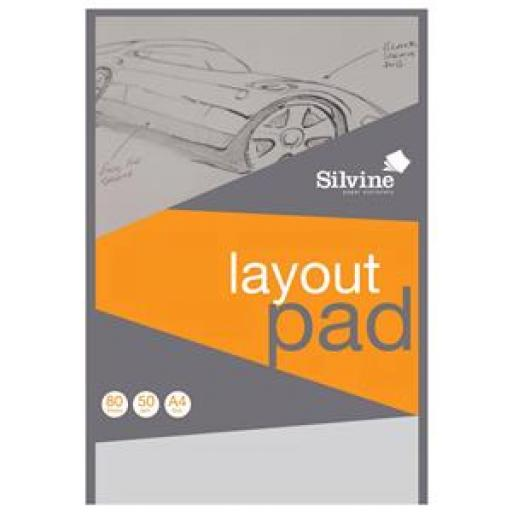 Silvine (A4) Layout Pad Bank Paper Acid Free 50gsm 50 Sheets (Prize Draw) April-December 2016
