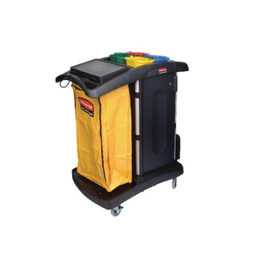 Rubbermaid Secure Microfibre Cart Assembled Black R052001