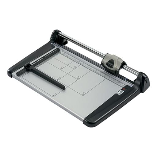5 Star Office Trimmer Heavy Duty Steel Table Capacity 15 sheets Cutting Length 360mm A4 Silver/Black