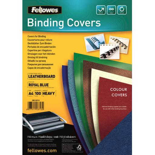Fellowes (A4) Leatherboard Binding Covers (1 x Pack of 100 Covers)