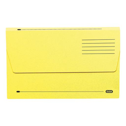 Elba Document Wallet Half Flap 285gsm Capacity 32mm Foolscap Yellow Ref 100090128 [Pack 50]