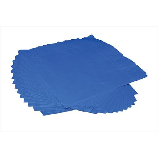 2-Ply (400 x 400mm) Square Napkins (Royal Blue) 1 x Pack of 125 Napkins
